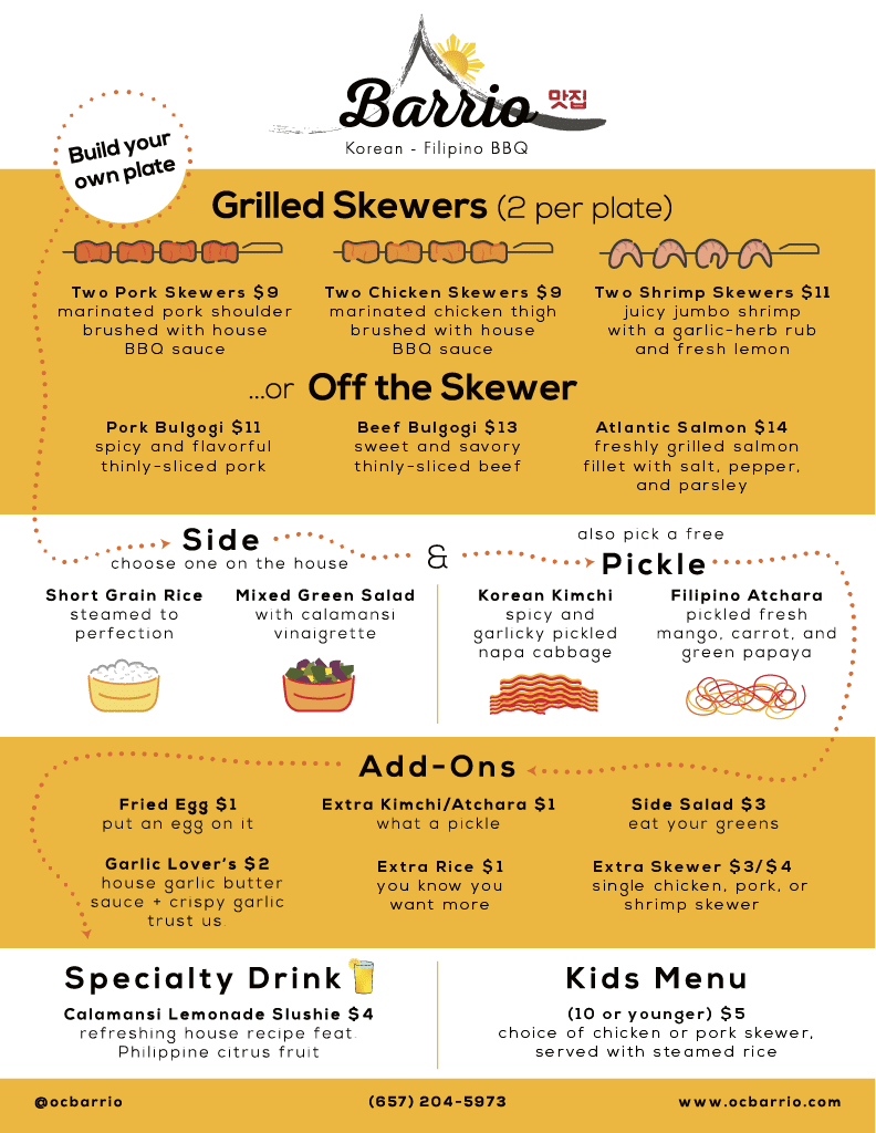 oc menu, SteelCraft Garden Grove